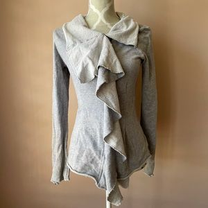 Free people gray thumb hole jacket ebb and flow